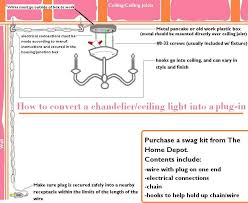 how to convert a chandelier into a plug in fixture the home