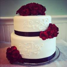 simple two tier white wedding cakes melitafiore