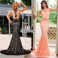 rochii de seara online rochii de seara chanttal lungi cu trena din dantela si funda