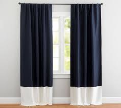 best bedroom colors for sleep pottery barn best linen silk border drape pottery barn throughout navy linen
