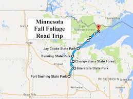 Mn Highway Map See Minnesota U0027s Fall Foliage On This Colorful 2016 Road Trip