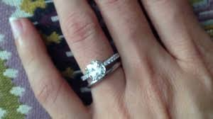 plain wedding band novo ring with plain wedding band