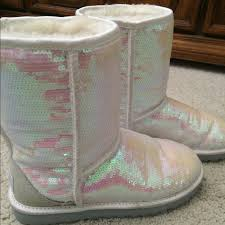 s pink ugg boots sale 54 ugg shoes white pink sequin ugg boots from top