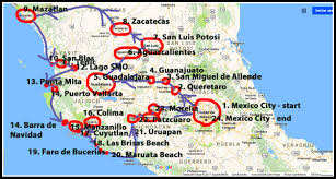 map central mexico my route through mexico pt 2 central mexico and the pacific