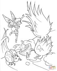 ladybird and tinkerbell coloring page free printable coloring pages