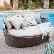 Fabric Outdoor Chairs Outdoor U0026 Landscaping Astounding Round Gray Fabric Outdoor Daybed