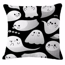 18 u0027 u0027 halloween cute ghost pumpkin throw pillow case sofa cushion