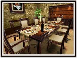 second life marketplace dinner party dining set for 8 walnut u0026 burl