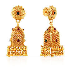 malabar earrings malabar gold and diamonds collection 22k yellow gold and