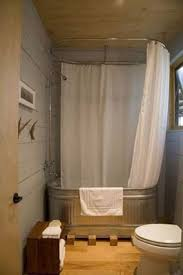 Cabin Bathrooms Ideas by Best 25 Tin Shower Walls Ideas On Pinterest Tin Shower Rustic