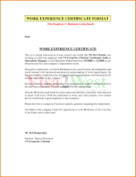 Experience Letter India experience letter format for visa copy business letter format in