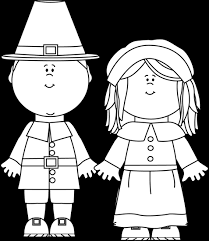 black and white pilgirms clip black and white pilgirms image