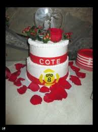 firefighter wedding cakes home