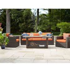 Seasonal Concepts Patio Furniture Patio Conversation Sets Outdoor Lounge Furniture The Home Depot