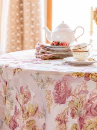 victorian rose linen tablecloth linens u0026 kitchen tablecloths