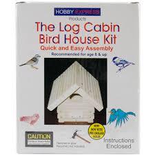 house kit pinepro log cabin wood bird house kit unfinished walmart com