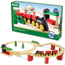 Brio Train Table Set Brio Classic Deluxe 25 Pc Wooden Train Set Educational Toys Planet