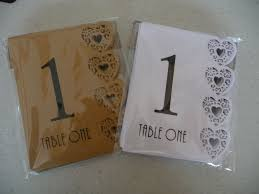 Laser Cut Table Numbers Numbers For Wedding Or Party Laser Cut Heart Design Numbers 1 To
