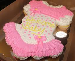 how to make a cake for a girl baby girl cupcake cake cupcakesbyvanessa cake cup cake