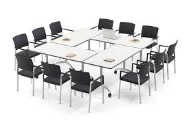 White Meeting Table Folding Meeting Table Systems Fusion