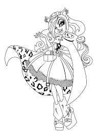 clawdeen wolf monster high coloring pages for kids printable free