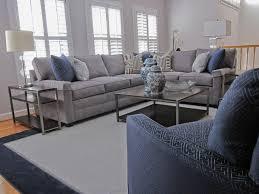 Grey Family Room Ideas Classic Gray And Navy Family Room