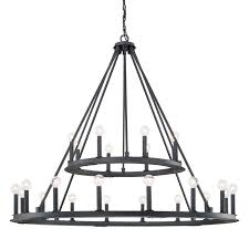 Iron Ring Chandelier Minimalist Iron Ring Two Tier Chandelier 24 Light Shades Of Light