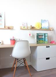 fabriquer un bureau enfant room with ikea storage réalisation peek it magazine cuarto