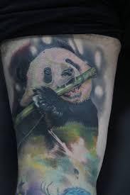 69 panda bamboo tattoos