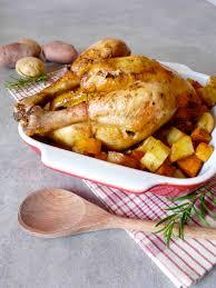 cuisiner patates douces poulet rôti aux patates douces pommes de terre et massalé une