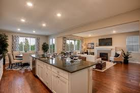 one wall kitchen with island great room with one wall kitchen island in federal way wa