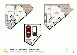 Rosecliff Floor Plan by 24 9 Rosecliffe Street Highgate Hill Qld 4101 Sold