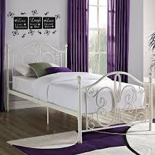 Target Metal Bed Frame Bombay Metal Bed White Dorel Home Products Target Intended