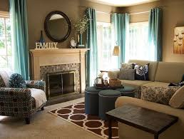 Brown Turquoise Curtains Turquoise Curtains For Living Room Living Room