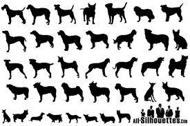 free silhouette images vector dogs silhouettes free pack vector file 365psd com