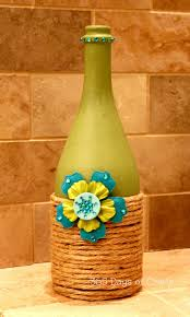 Upcycled Wine Bottles - upcycled wine bottle home decor national craft month project