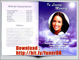 funeral phlet ideas template microsoft word obituary template