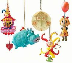 set of 5 small world ornaments from our collection