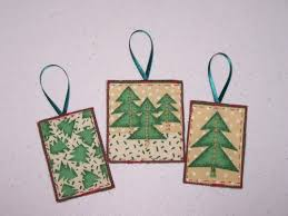 fabric christmas trees ornaments or tags handmade artists blog