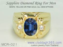 all sapphire rings images Men 39 s ring with sapphire and diamonds jewels365 jpg