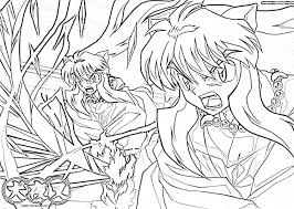 inuyasha coloring pages 3 anime pages pinterest inuyasha