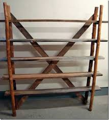 Rustic Book Shelves by Recycled Ladder Bookshelves