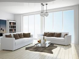 White Living Room With White Sofa Stock Photo Interiors Stock - Living room with white sofa