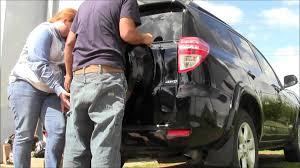 toyota rav4 spare tire access remove install spare tire cover on toyota rav4