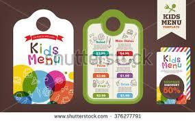 cute colorful kids meal menu vector stock vector 372983512
