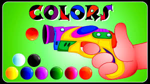 colors for children to learn with gun game colours for kids to