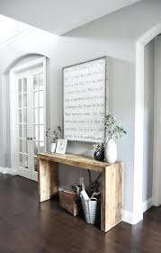 how to decorate a sofa table behind a couch console table made