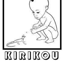 Coloriage KIRIKOU et les Hommes et les Femmes  Coloriages