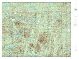 Essex County Map Paper Laminated Mytopo Newcomb New York Usgs Quad Topo Map