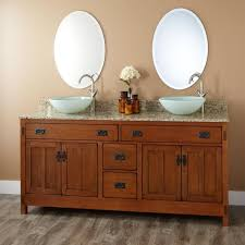 Bathroom Double Sink Cabinets by Best 25 Vessel Sink Vanity Ideas On Pinterest Small Vessel